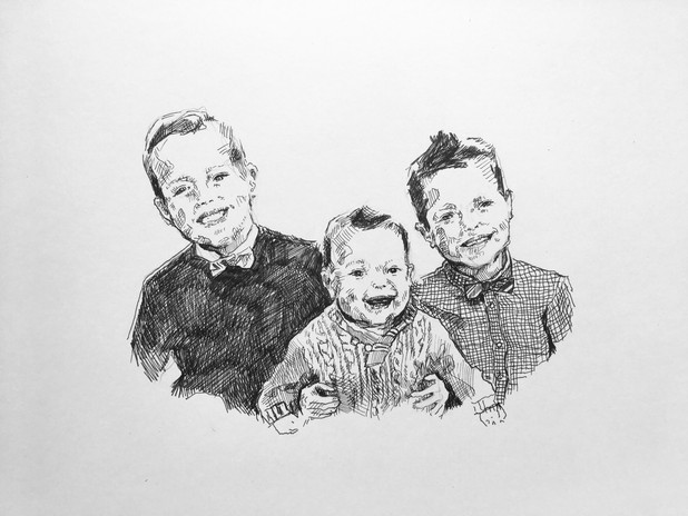 """pen and ink on bristol 11"""" x 14"""""""