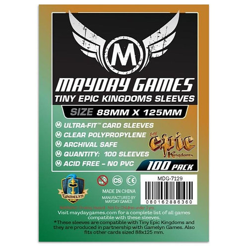 Mayday Games: Tiny Epic Kingdom Sleeves 88x125 mm