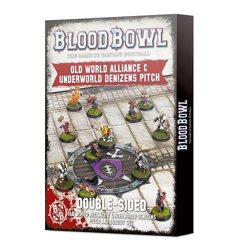 Blood Bowl: Old World Alliance & Underworld Denizens Pitch and Dugout Set