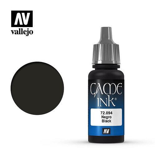Vallejo Game Color: Black (Ink)