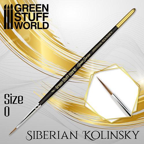 Green Stuff World: Gold Series Siberian Kolinsky Brush (Size 0)