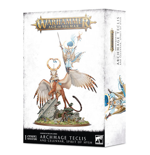 Age of Sigmar: Lumineth Realm-lords Archmage Teclis and Celennar