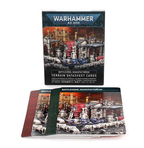 Battlezone: Manufactorum Terrain Datasheet Cards