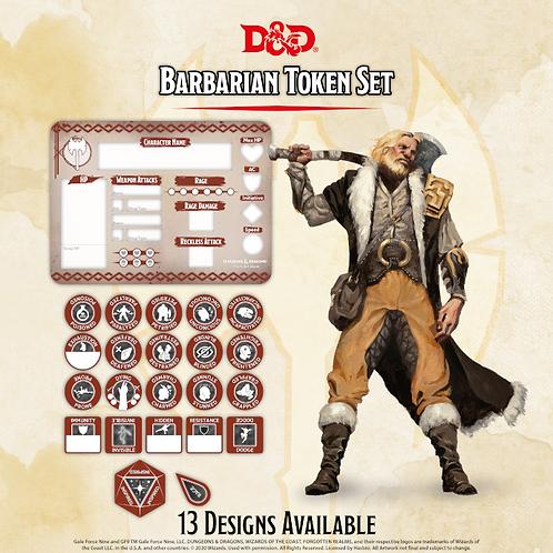 D&D 5.0: Barbarian Token Set