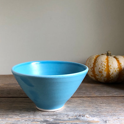 small turquoise satin bowl