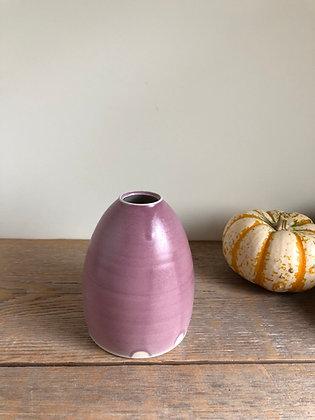 pink satin bud vase