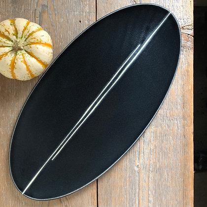 black satin cheese tray