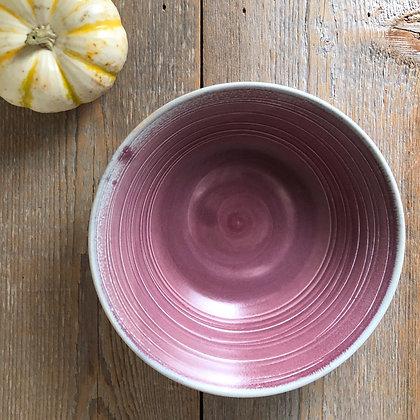 pink satin bowl