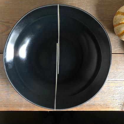 back satin bowl w white line