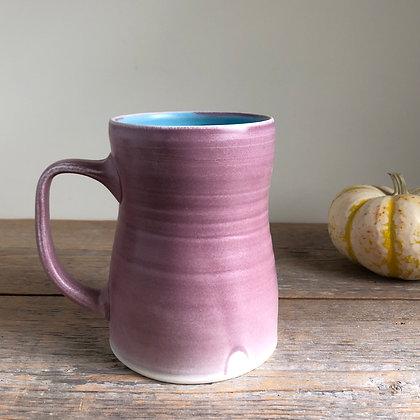 large pink mug