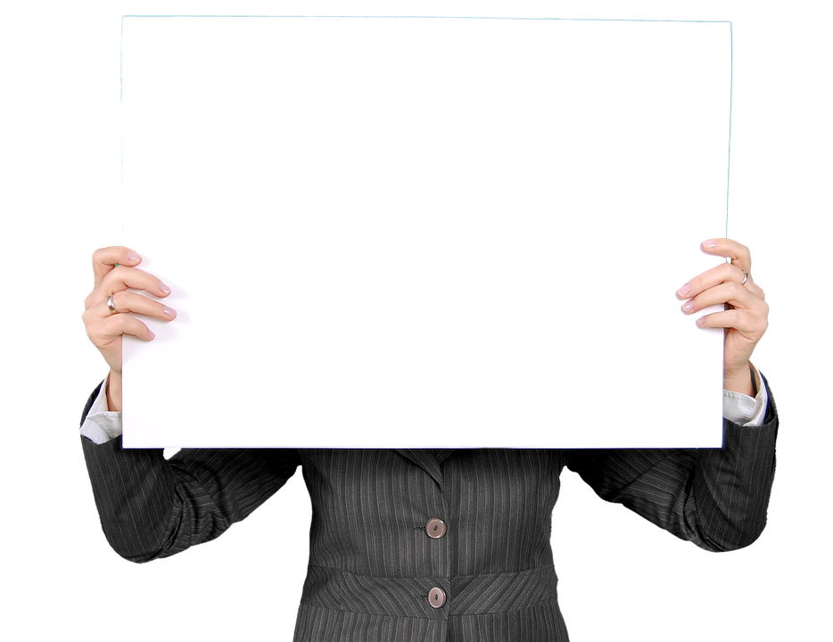 Blank posterboard