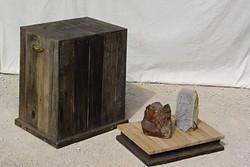 Sculpture and pedestal