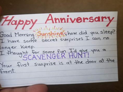 Anniversary Scavenger Hunt
