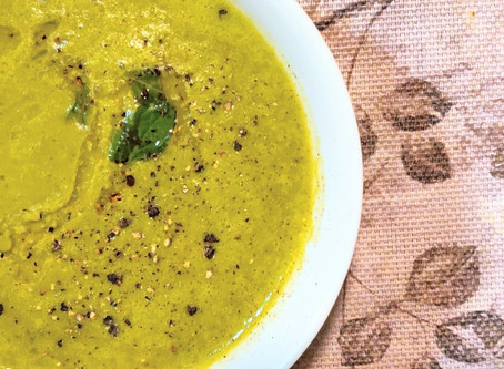 High Protein, Immune Boosting Mung & Spinach Soup