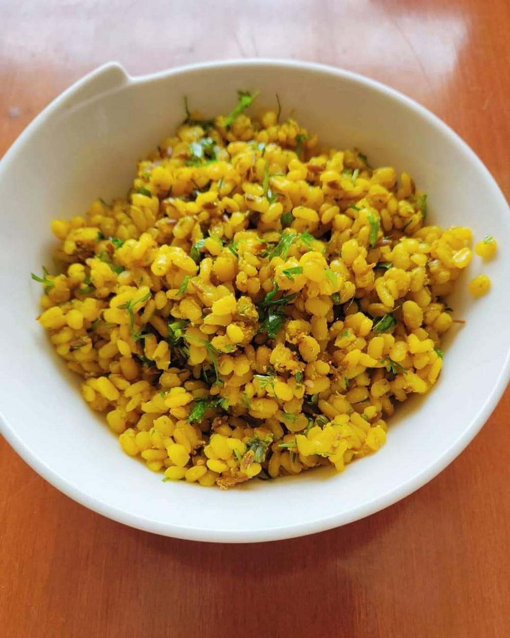 health pantry, indian, probitoic, high protein, ghee, immune boosting, low carb dinner recipes, healthy recipes, saatvik recipes, khushboo jain tibrewala, nutritionist, diet coach, mumbai, gut friendly, vegan foods, green gram, moong daql sautee, chuki hui moong ki dal, delhi snack recipes, healthy vegan recipes, breakfast ideas