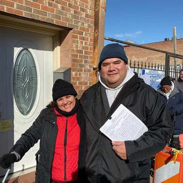Petitioning at the 12th Ward Annual Turkey Giveaway