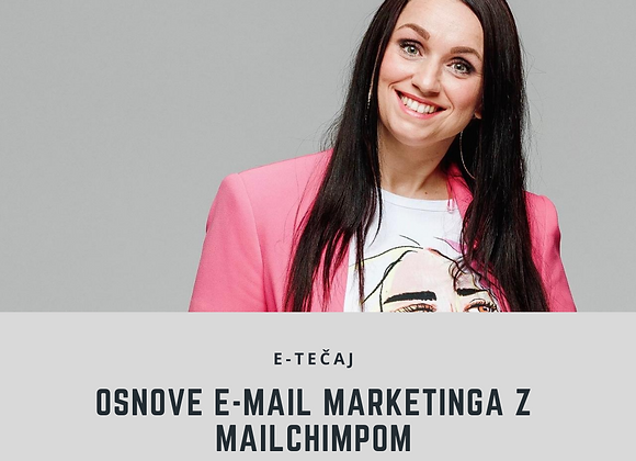 E-tečaj Osnove e-mail marketinga in uporaba Mailchimpa