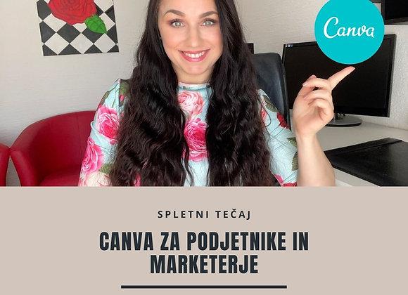 E-tečaj Canva za podjetnike in marketerje
