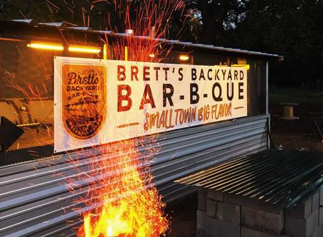 Brett's Backyard BBQ grand opening today!