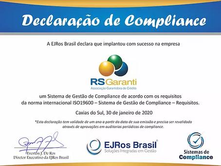 Declaração de Compliance