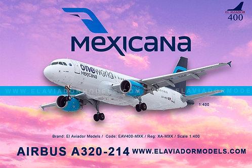 Mexicana A320 XA-MXK / EAV400-MXK / 1:400