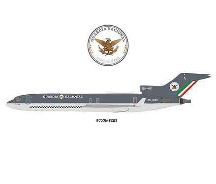 Guardia Nacional  Boeing 727-200 / GN-401 / IF722MEX03 / 1:200