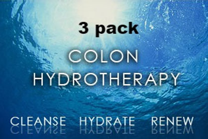 Package of 3 Colon Hydrotherapy Treatments