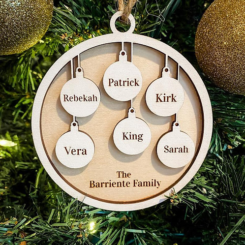 Family Ornament - 6 members