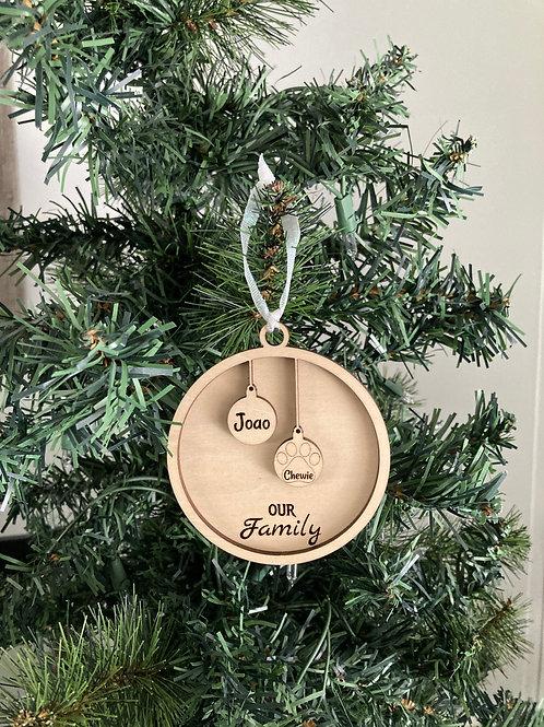 Family Ornament - 2 members