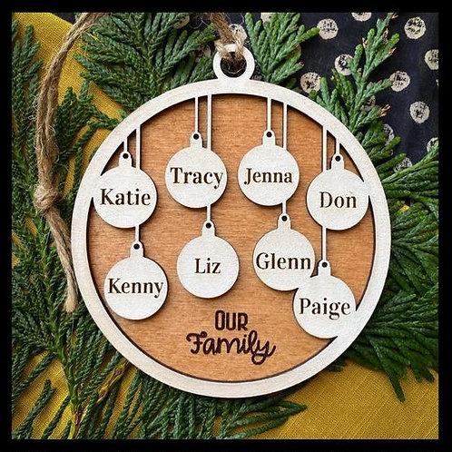 Family Ornament - 8 members
