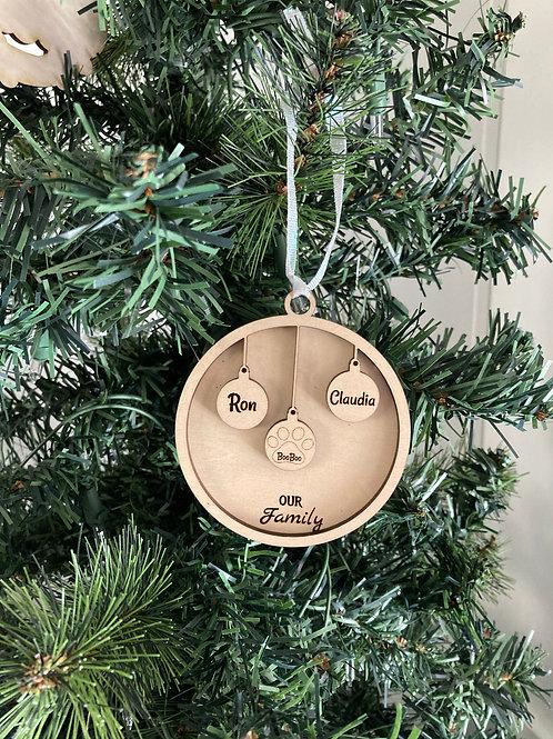 Family Ornament - 3 members