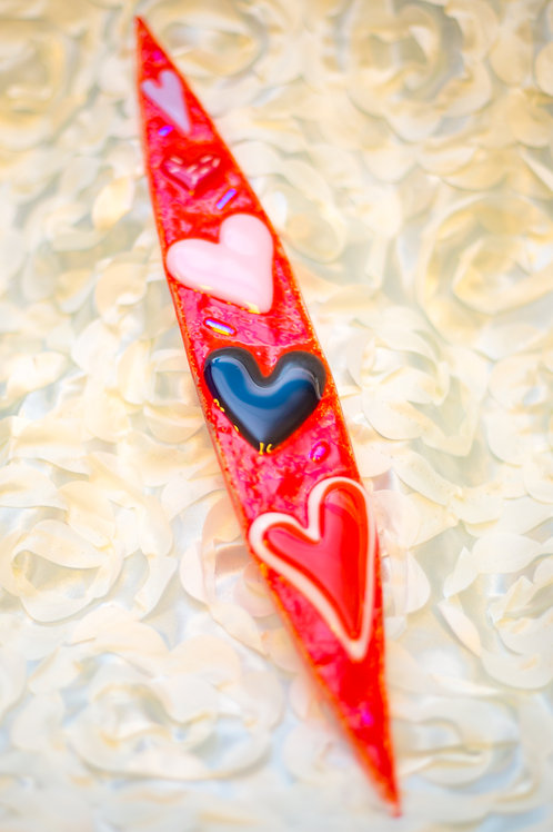 Love Explosion - Fused Glass Wall Art