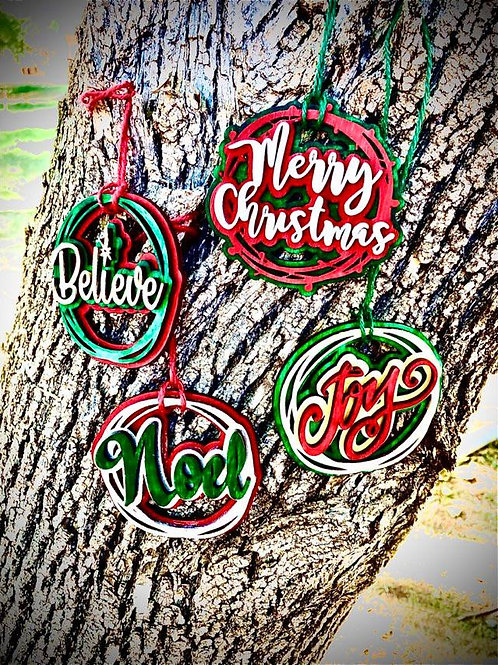 Words Craft Kit Ornaments