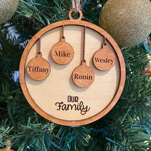 Family Ornament - 4 members