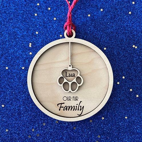Fur Family Ornament - Single Pet