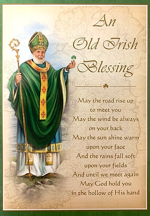 Old Irish Blessing With Novena SP-21D