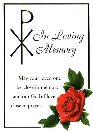 In Loving Memory - Red Rose and Pax Cross M9A