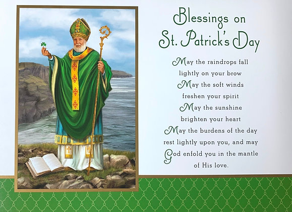 Blessings on St. Patrick's Day With Novena SP-19A
