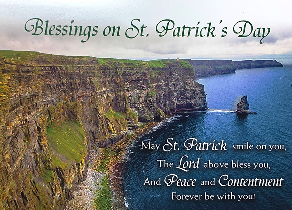 Blessings on St. Patrick's Day With Novena SP-20B