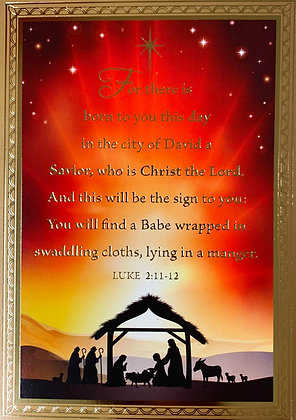 Christmas Greeting Card - With Novena CA-18B