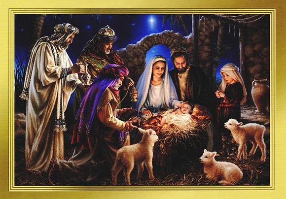 Peace and Joy - Nativity  - With Novena of Masses CA-20A