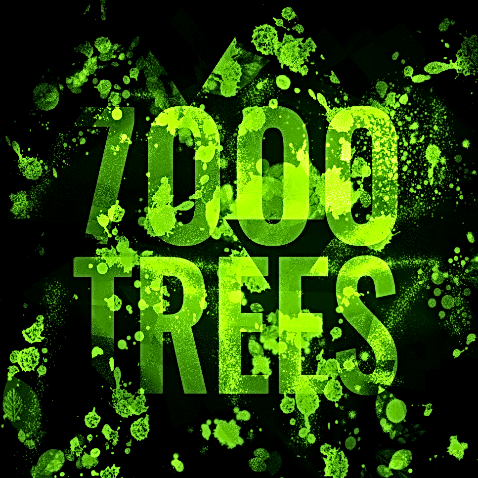 7000 trees logo