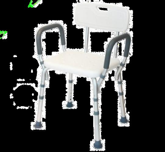 כיסא רחצה עם ידיות