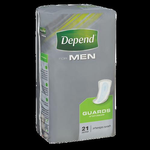 תחבושות דיפנד לבריחת שתן לגברים