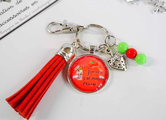Porte clé rouge j'peux pas j'ai mojito fraise