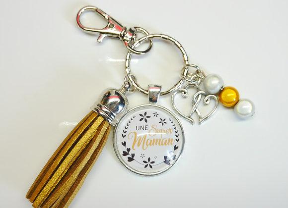 Porte clé or, une super maman
