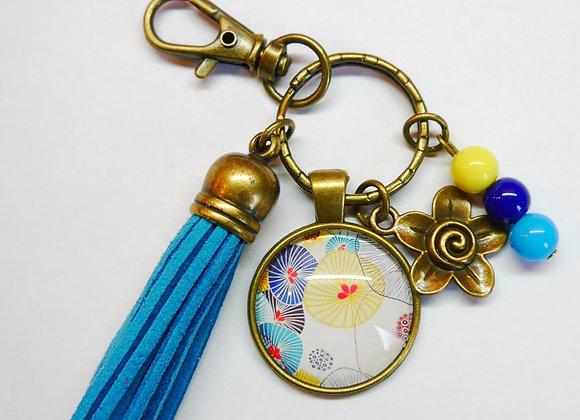 Porte clé bleu, japonais