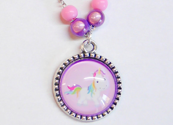 "collier enfant avec perles ""licorne"""