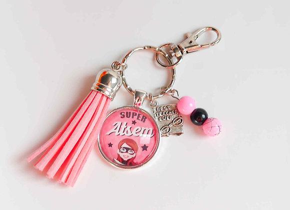 Porte clé rose super atsem