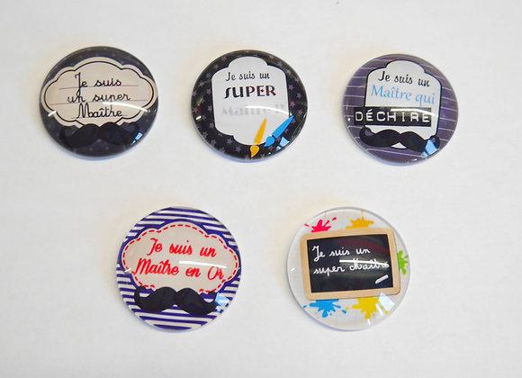 Magnets pour réfrigérateur cadeau maître thème école